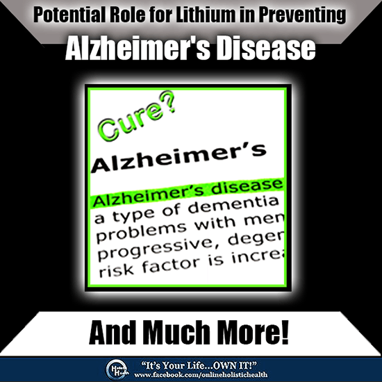 Potential-Role-for-Lithium in preventing Alzheimer's Disease