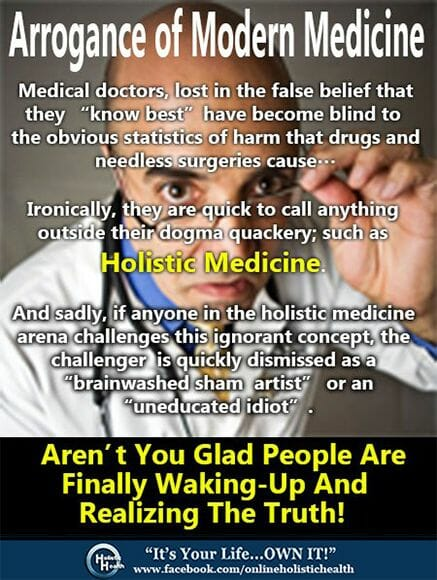 Arrogance of Modern Medicine