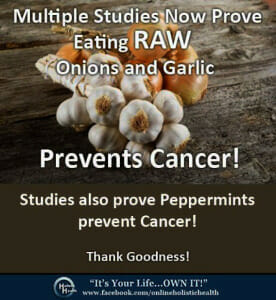 Garlic and onion prevent cancer