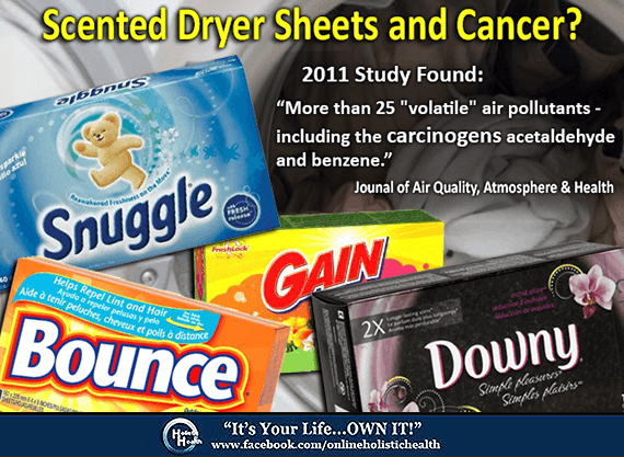 Scented Dryer Sheets Toxic For Your Health! - Natural ...