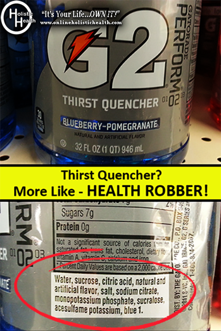 G2 (Gatorade) Health WARNING!