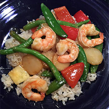 Lemon Ginger Shrimp Stir-Fry