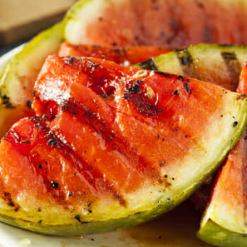 Grilled Watermelon with Basil and Balsamic