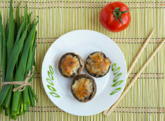 Spinach Stuffed Portobello