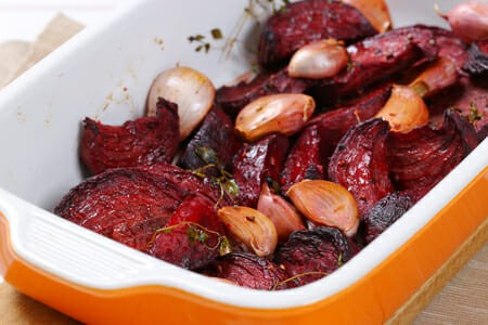 Roasted Beets with Garlic
